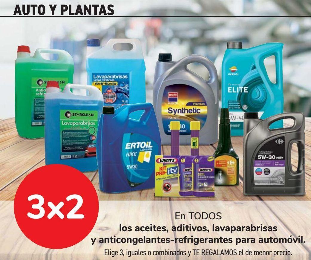 Oferta de En TODOS los aceites, aditivos, lavaparabrisas y anticongelantes-refrigerantes para automóvil  por