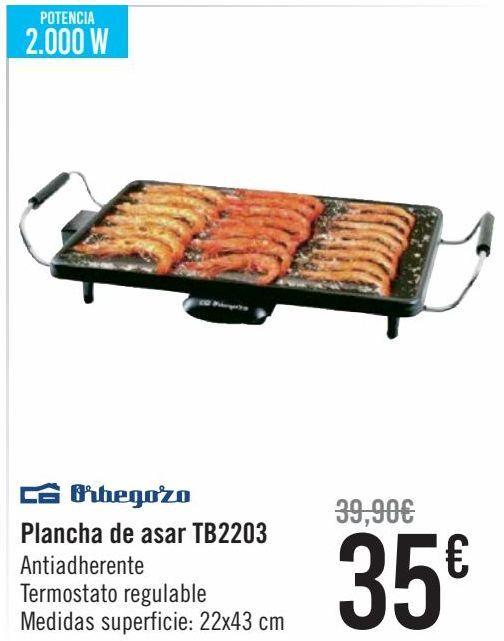 Oferta de Orbegozo Plancha de asar TB2203  por 35€