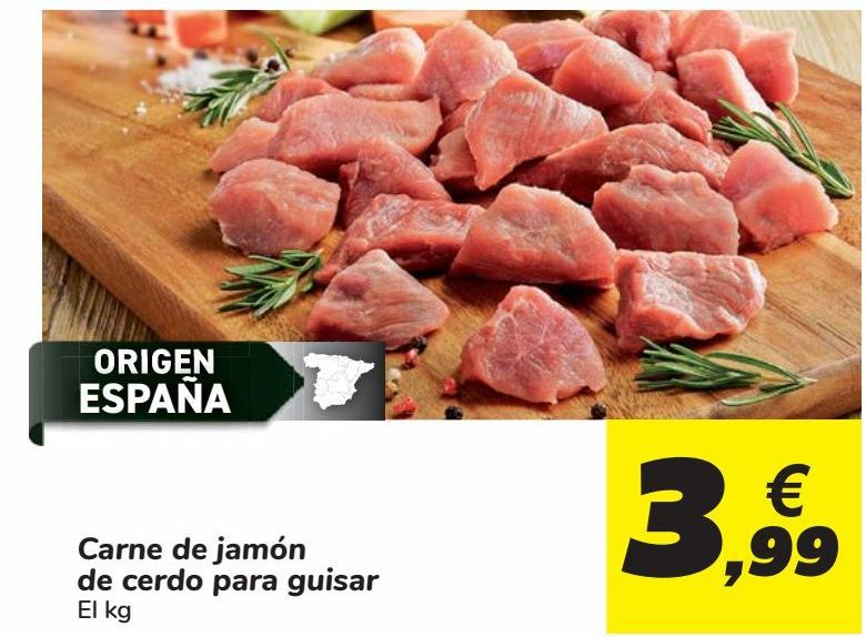 Oferta de Carne de jamón de cerdo para guisar por 3,99€