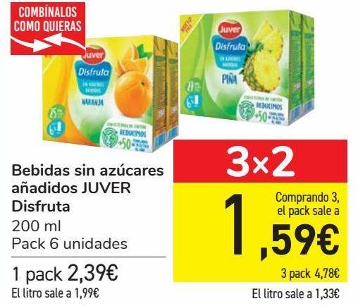 Oferta de Bebida sin azúcares añadidos JUVER Disfruta  por 2,39€