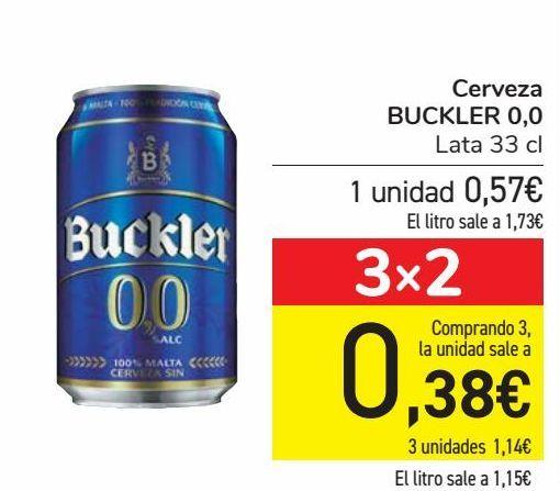 Oferta de Cerveza BUCKLER 0,0  por 0,57€