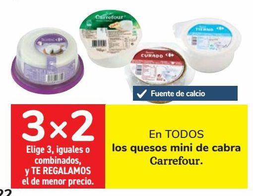 Oferta de En TODOS los quesos mini de cabra Carrefour por