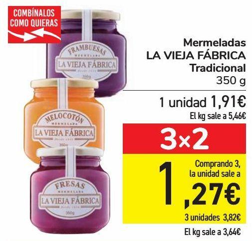 Oferta de Mermelada LA VIEJA FÁBRICA Tradicional  por 1,91€