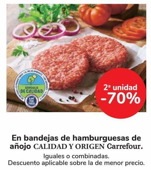 Oferta de En bandejas de hamburguesas de añojo CALIDAD Y ORIGEN Carrefour por