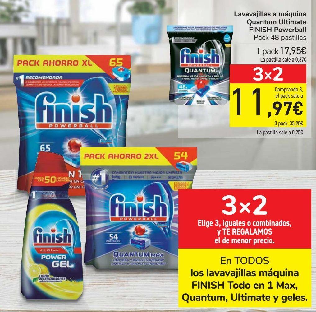 Oferta de En TODOS los lavavajillas máquina FINISH Todo en 1 Max, Quantum, Ultimate y geles  por