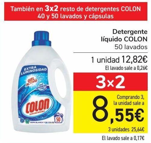 Oferta de Detergente líquido COLON  por 12,82€