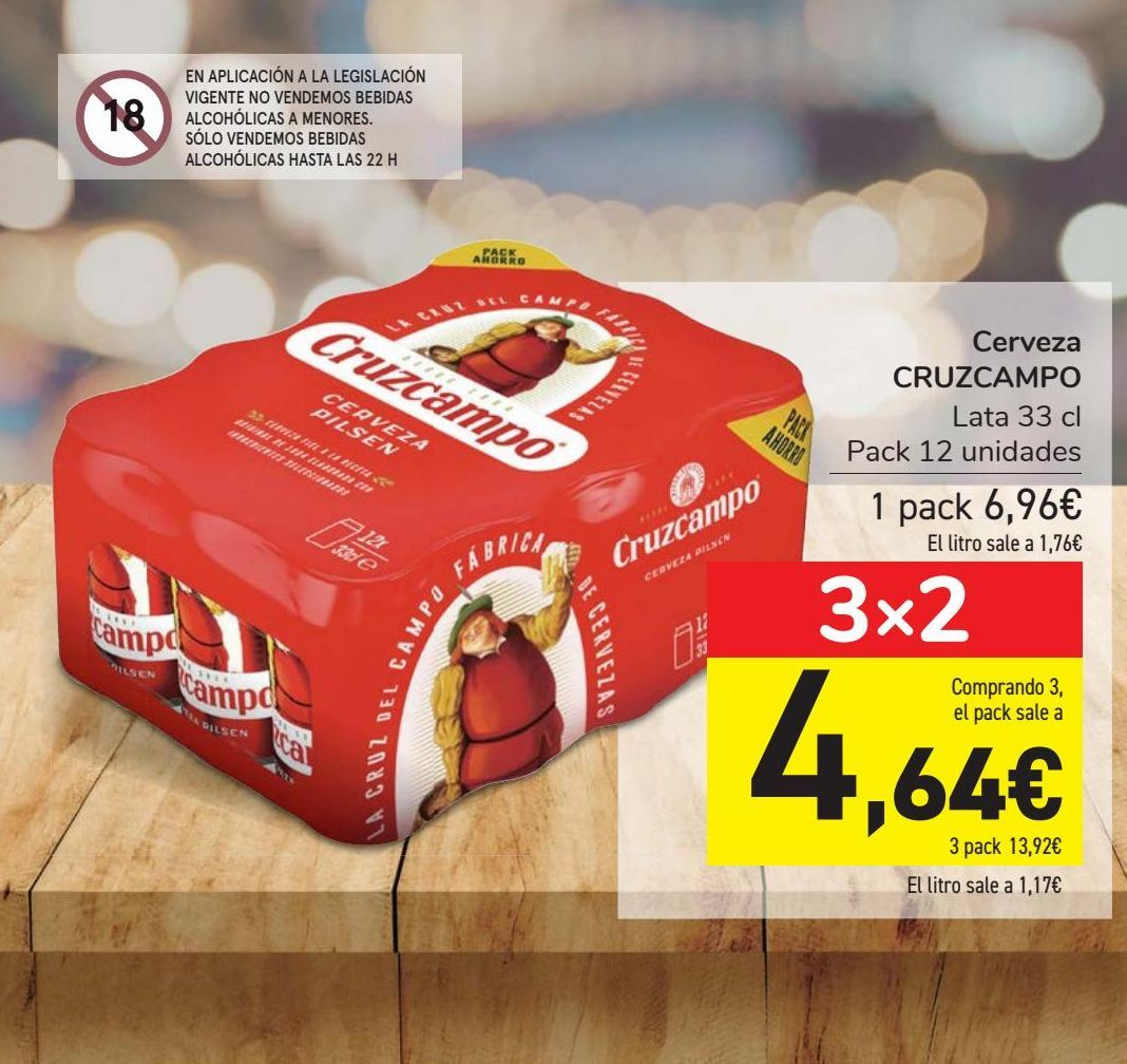 Oferta de Cerveza CRUZCAMPO  por 6,96€