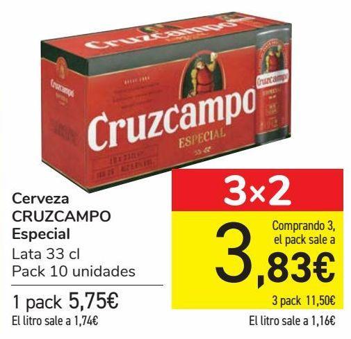 Oferta de Cerveza CRUZCAMPO Especial  por 5,75€
