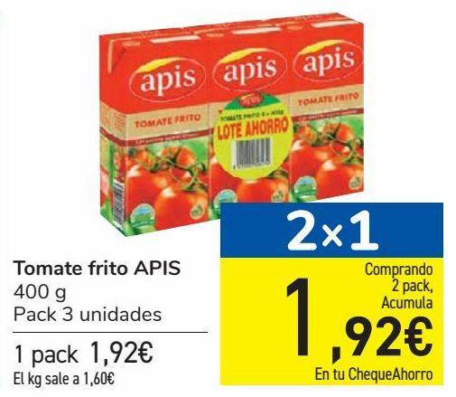 Oferta de Tomate frito APIS por 1,92€