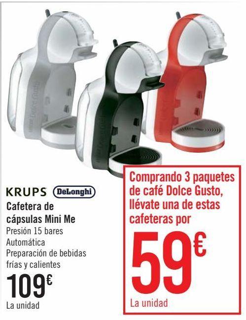 Oferta de KRUPS DëLonghi Cafetera de cápsulas Mini Me  por 109€