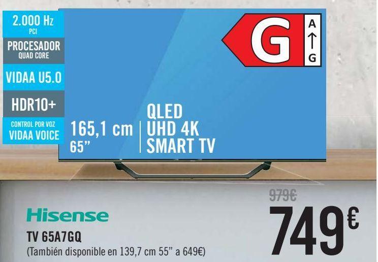 Oferta de Hisense TV 65A7GQ  por 749€