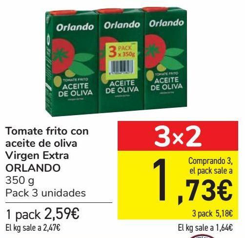 Oferta de Tomate frito con aceite de oliva Virgen Extra ORLANDO por 2,59€