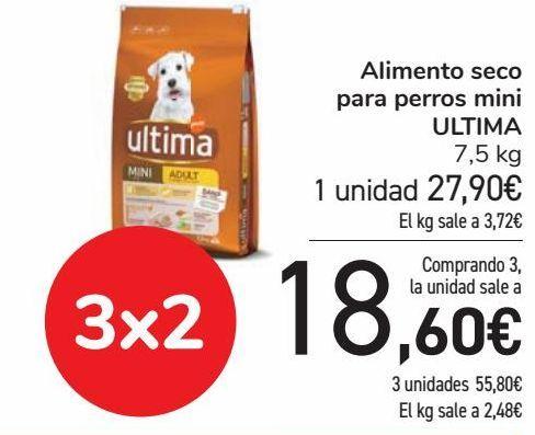 Oferta de Alimento seco para perros mini ULTIMA  por 27,9€