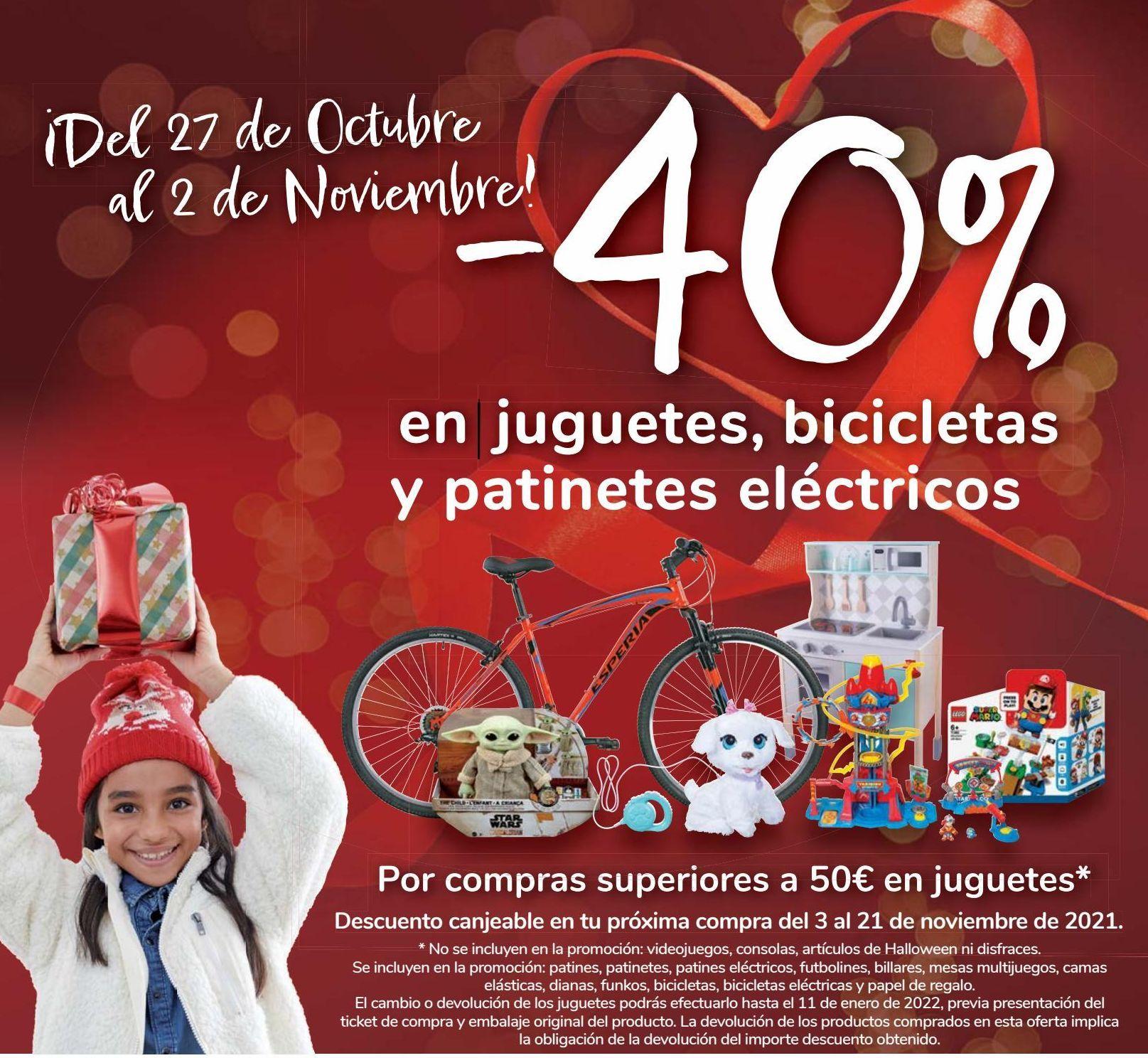 Oferta de En juguetes, bicicletas y patinetes eléctricos  por
