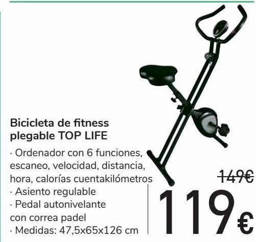 Oferta de Bicicleta de fitness plegable TOP LIFE  por 119€