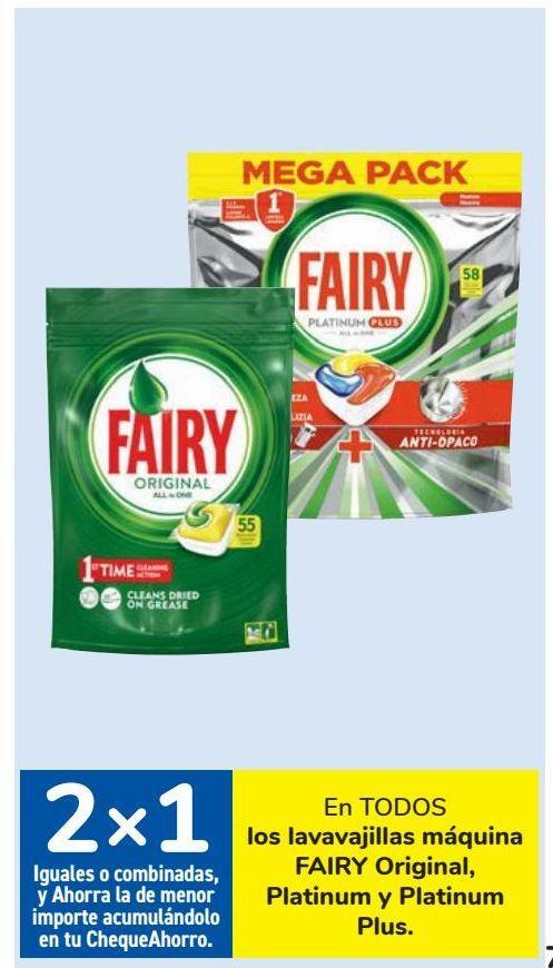 Oferta de En TODOS los lavavajillas máquina FAIRY Original, Platinum y Platinum Plus por