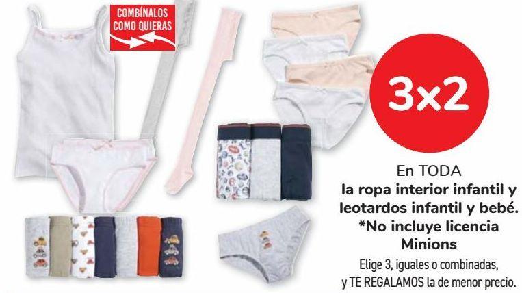 Oferta de En TODA la ropa interior infantil y leotardos infantil y bebé  por