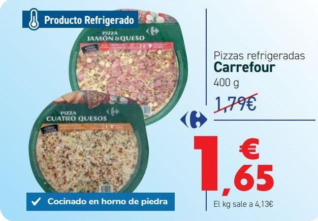 Oferta de Pizzas refrigeradas Carrefour  por 1,65€
