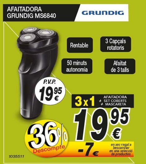 Oferta de Afeitadora Grundig por 19,95€