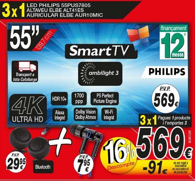 Oferta de Led 55'' Philips por 569€