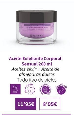 Oferta de Aceite exfoliante corporal sensual 200ml por 11,95€