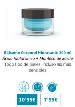 Oferta de Bálsamo corporal hidratante 200ml por 10,95€