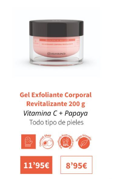 Oferta de Gel exfoliante corporal revitalizante 200g por 11,95€