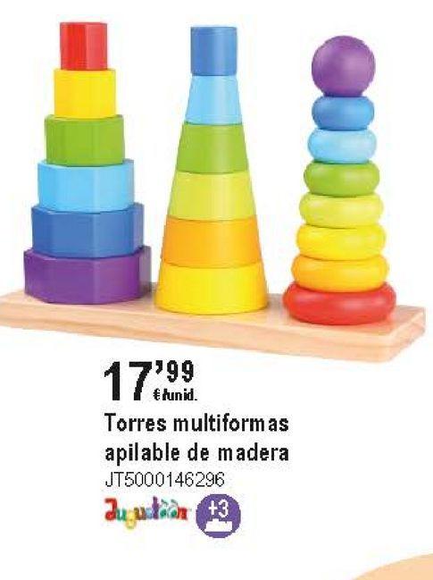 Oferta de Juguetes de madera por 17,99€