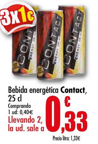 Oferta de Bebida energética contact por 0,4€