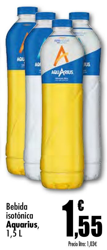 Oferta de Bebida isotónica Aquarius por 1,55€