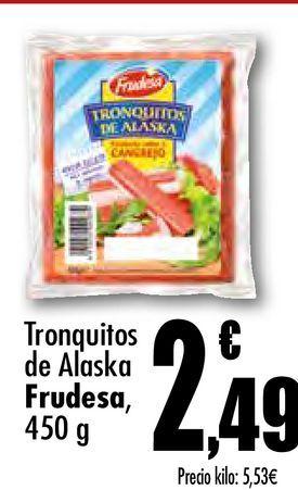 Oferta de Tronquitos de Alaska Frudesa por 2,49€