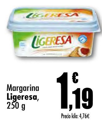 Oferta de Margarina Ligeresa por 1,19€