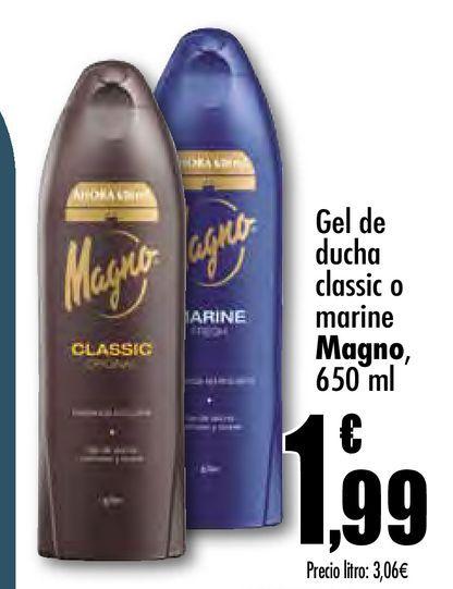 Oferta de Gel de ducha calssic o marine Magno por 1,99€