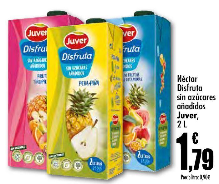 Oferta de Néctar Disfruta sin azúcares añadidos Juver por 1,79€