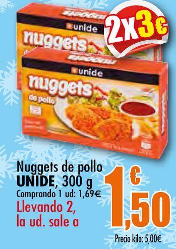 Oferta de Nuggets de pollo Unide por 1,69€