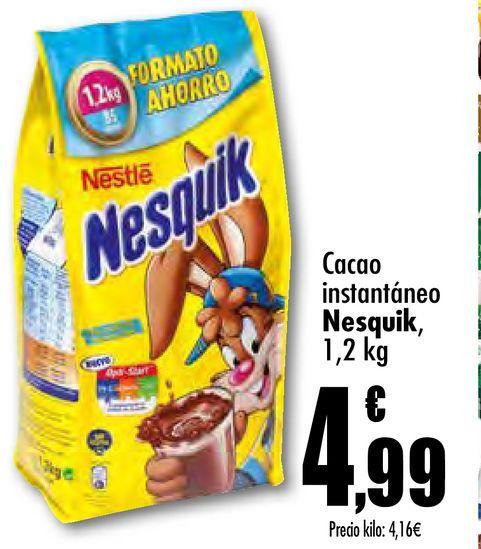 Oferta de Cacao instantáneo Nesquik por 4,99€