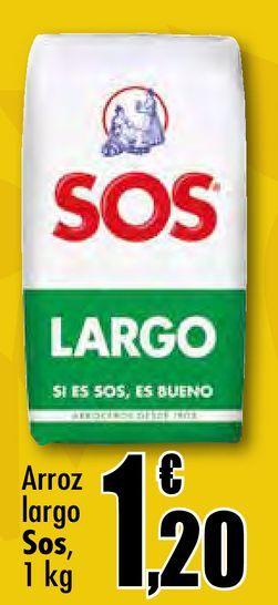 Oferta de Arroz largo Sos por 1,2€