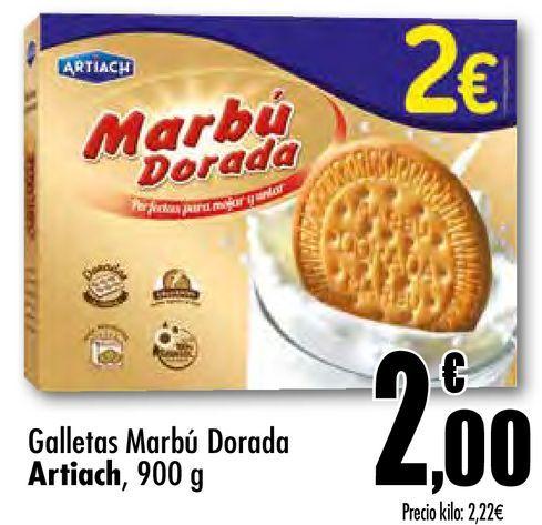 Oferta de Galletas Marbú Dorada Artiach por 2€