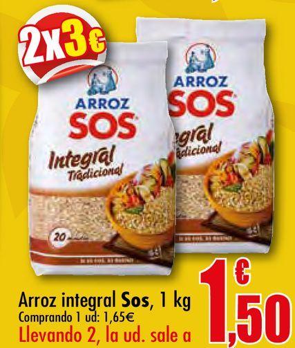 Oferta de Arroz integral Sos por 1,65€