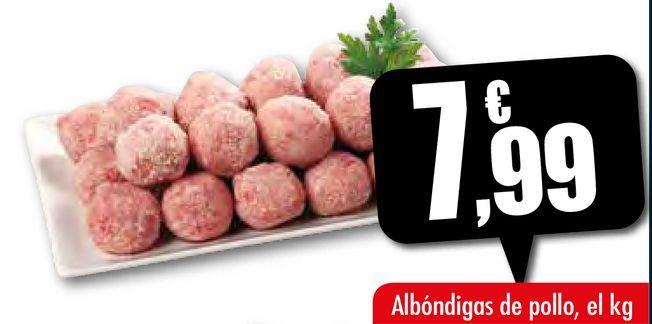 Oferta de Albóndigas de pollo por 7,99€