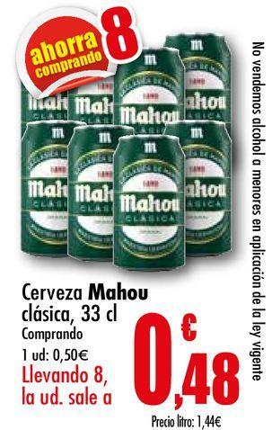 Oferta de Cerveza Mahou por 0,5€