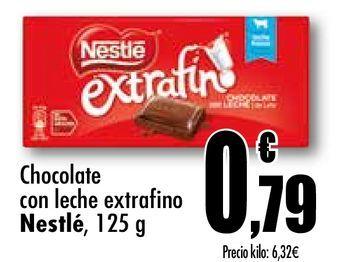 Oferta de Chocolate con leche extrafino Nestlé por 0,79€