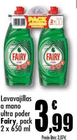 Oferta de Lavavajillas a mano ultra poder Fairy por 3,99€