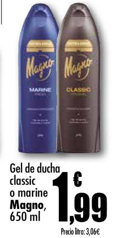 Oferta de Gel de ducha classic o marine Magno por 1,99€