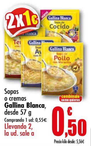 Oferta de Sopas o cremas Gallina Blanca por 0,55€