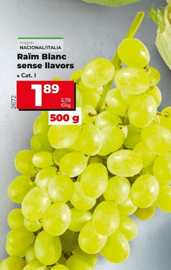 Oferta de Uvas por 1,89€