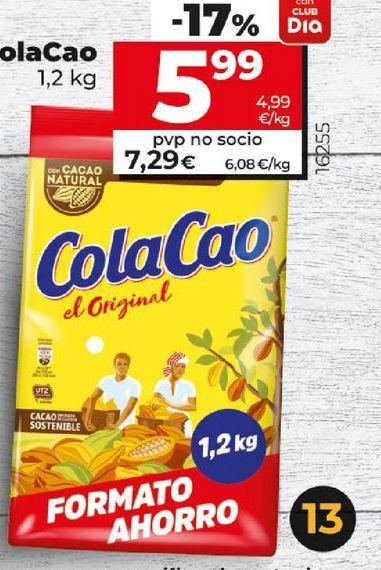 Oferta de Cacao Cola Cao por 7,29€