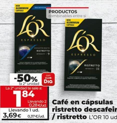 Oferta de Cápsulas de café l'or por 3,49€