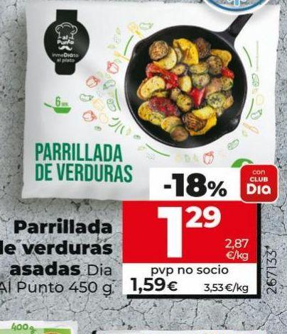Oferta de Parrillada de verduras por 1,29€
