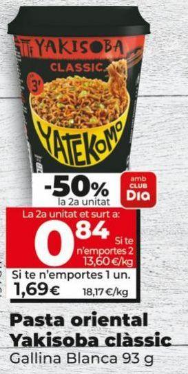 Oferta de Fideos yakisoba Gallina Blanca por 1,59€